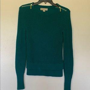 Michael Kors Green - long-sleeve sweater -XXS